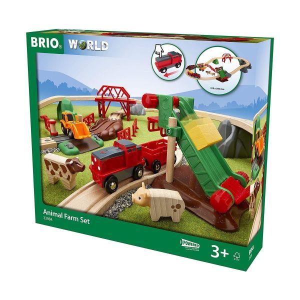 BRIO 33984 - World - Super Bundle Großes Bahn Bauernhof-Zug-Set