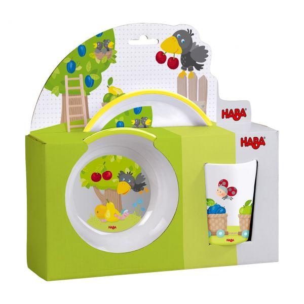 HABA 305953 - Kindergeschirr - Melamin Obstgarten