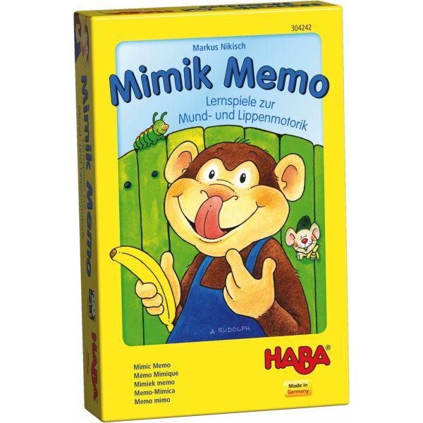 HABA 304242 - Mitbringspiel - Mimik Memo, Lernspiele zur Mund- und Lippenmotorik