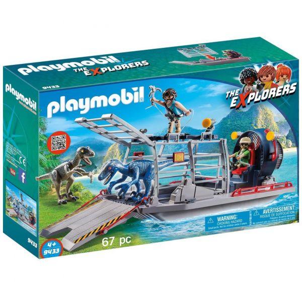 PLAYMOBIL 9433 - The Explorers - Propellerboot mit Dinokäfig