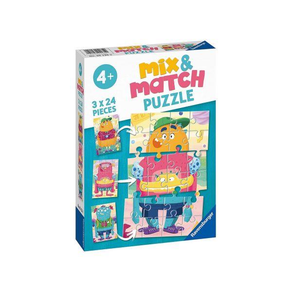 RAVENSBURGER 05135 - Mix & Match Puzzle - Lustige Monster, 3x24 Teile