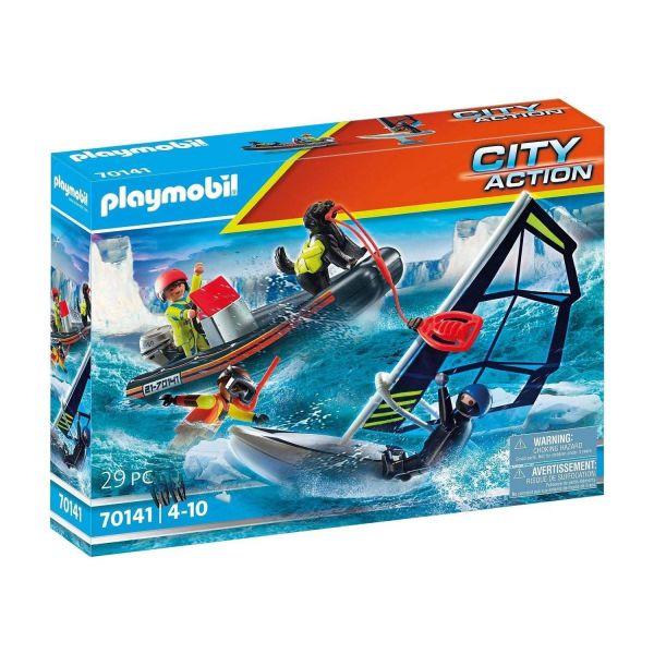 PLAYMOBIL 70141 - City Action - Seenot: Polarsegler-Rettung mit Schlauchboot