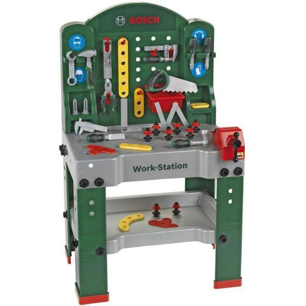 Theo Klein 8580 - Werkzeug - BOSCH Kinder-Werkbank, grün