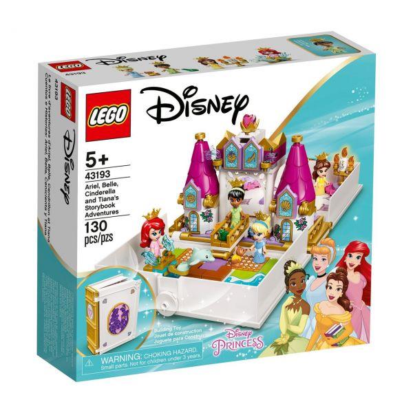 LEGO 43193 - Disney Princess - Märchenbuch Abenteuer mit Arielle, Belle, Cinderella und Tiana
