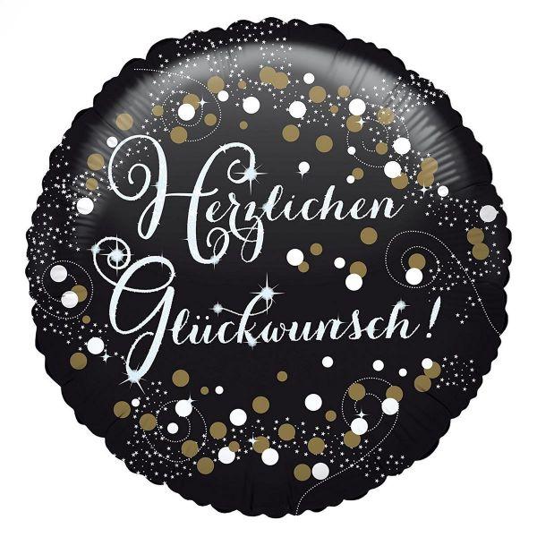 AMSCAN 3771401 - Sparkling Celebrations Gold, Herzlichen Glückwunsch - Folienballon, 43cm