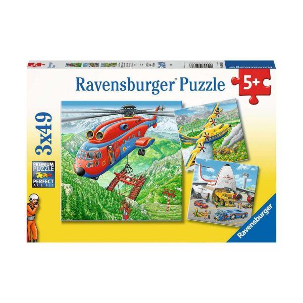 RAVENSBURGER 05033 - Puzzle - Über den Wolken, Flugzeuge, 3x49 Teile