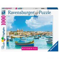 RAVENSBURGER 14978 - Puzzle - Mediterranean Places, Malta, 1000 Teile