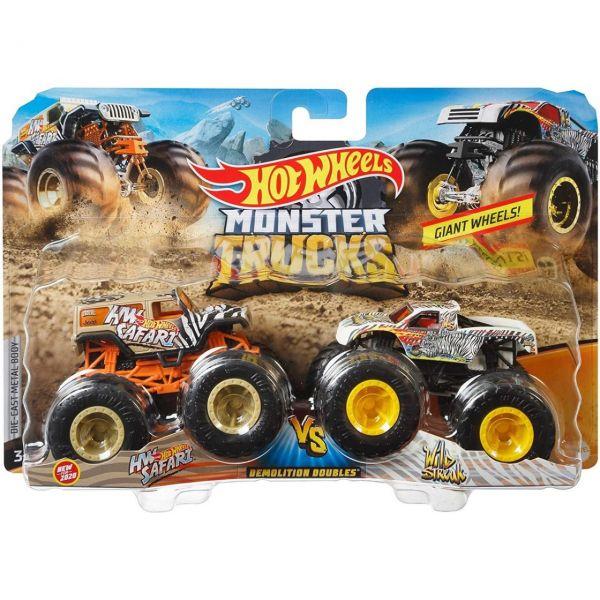 MATTEL FYJ64 - Hot Wheels - Monster Trucks Demolition Double, 2er Pack
