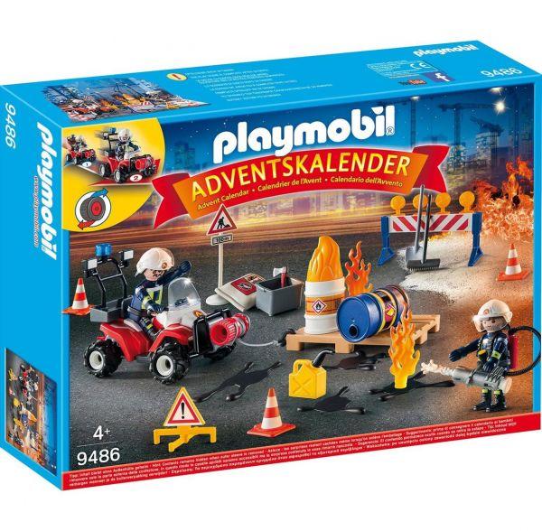 PLAYMOBIL 9486 - Adventskalender - Feuerwehreinsatz auf der Baustelle