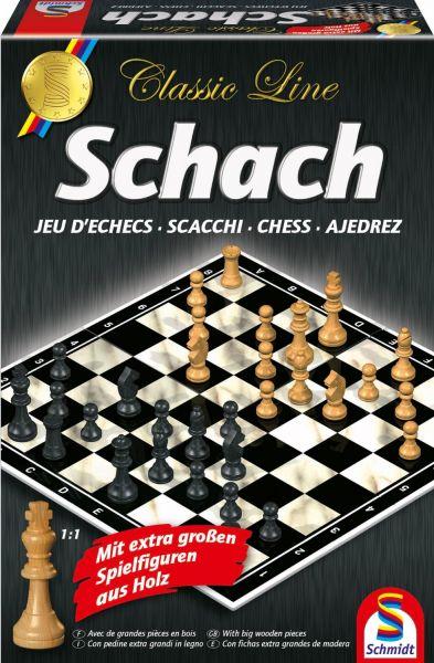 SCHMIDT 49082 - Familienspiel - Schach, mit großen Spielfiguren