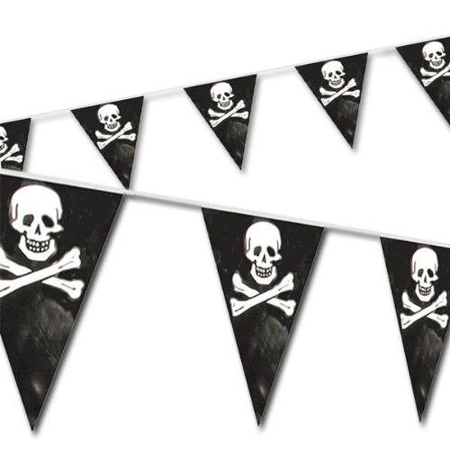 FOLAT 07445 - Geburtstag & Party - Piraten Wimpelkette, 10 m