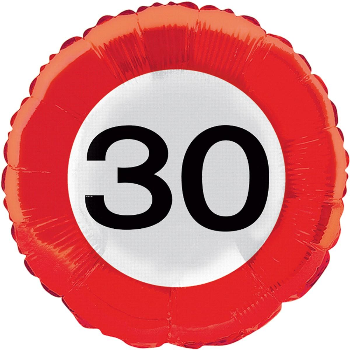 30 Jahre Verkehrsschild Rotorspirale FOLAT 05129 Geburtstag /& Party 3er Set