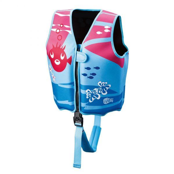 BECO 09639-0004 - Schwimmlernweste - Sealife, blau pink