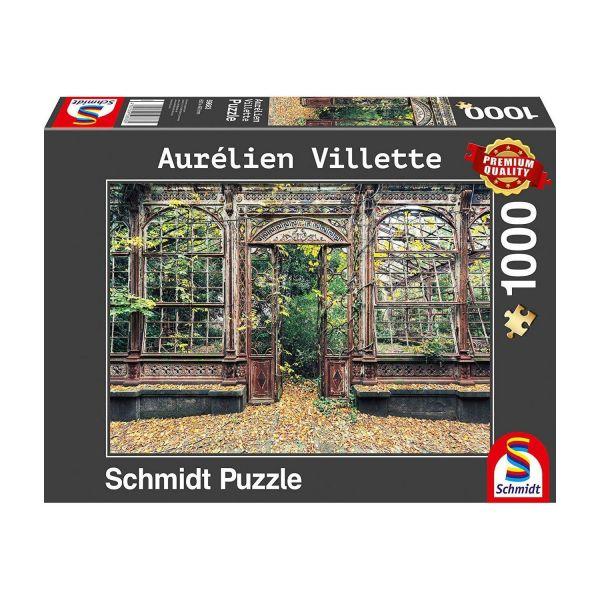 SCHMIDT 59683 - Puzzle - Aurelien Villette, Bewachsene Bogenfenster, 1000 Teile