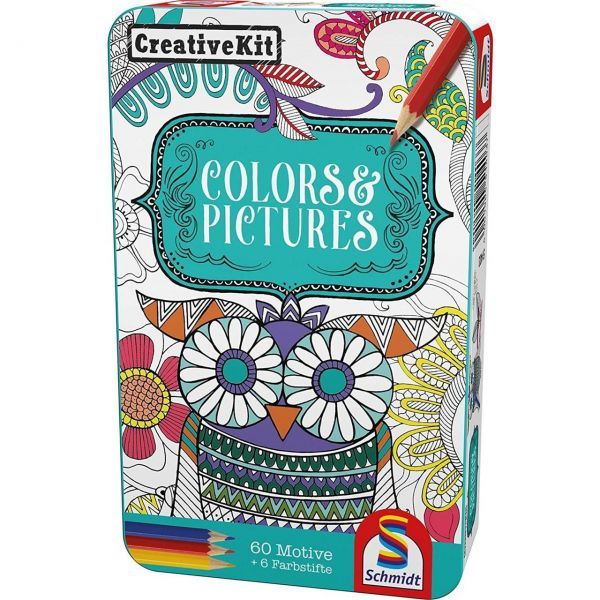 SCHMIDT 51403 - Mitbringspiel - Creative Kit, Colors & Pictures