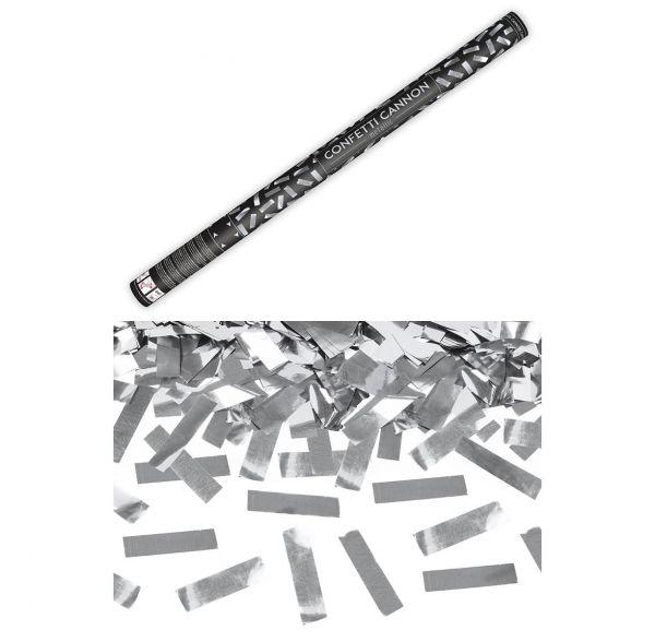 Konfetti Kanone Silber 80cm