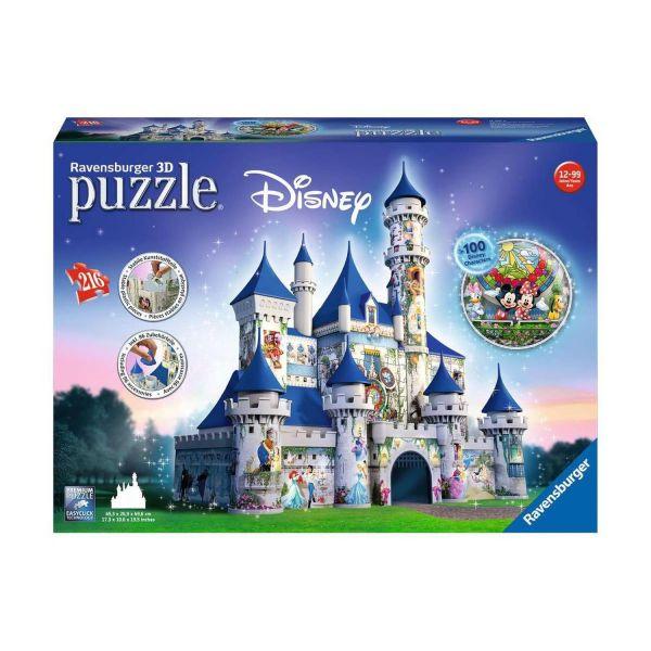 RAVENSBURGER 12587 - 3D Puzzle - Disney Schloss, 216 Teile