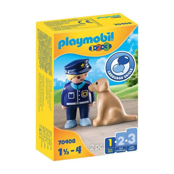 PLAYMOBIL 70408 - 1.2.3 - Polizist mit Hund