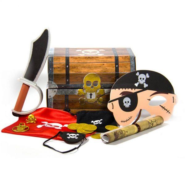 FOLAT 07675 - Geburtstag & Party - Piraten Schatzkiste mit Zubehör