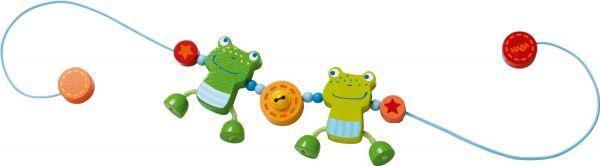 HABA 300582 - Kinderwagenkette - Froschfreunde