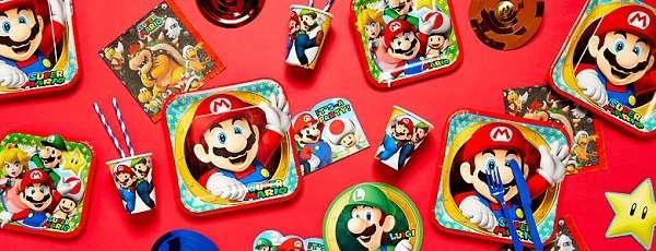 Super Mario Partydeko