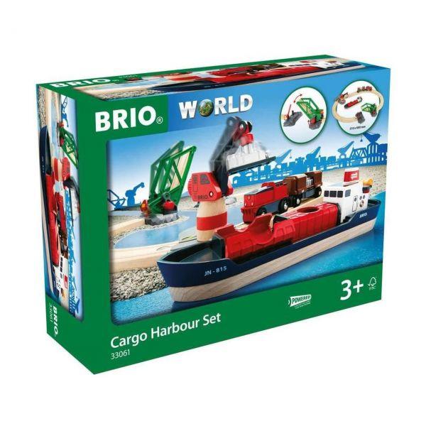 BRIO 33061 - Bahn - Container Hafen Set