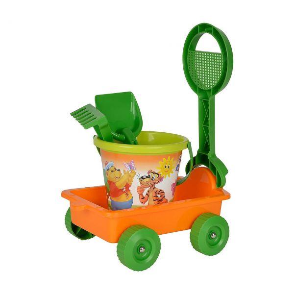 SIMBA 107132452 - Sandspielzeug - Sandwagen gefüllt, 6-teilig
