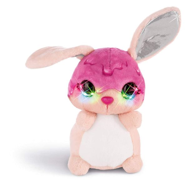 NICI 42481 - Nicidoos Flashies - Bunny Trofflemoffle, 16 cm
