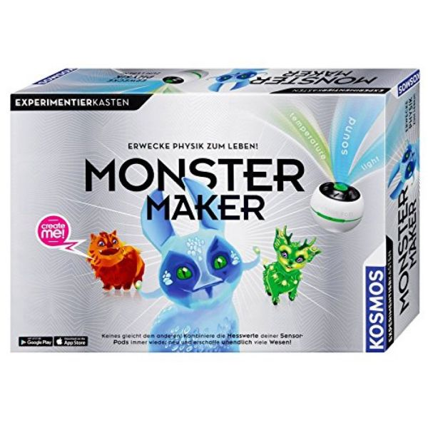 KOSMOS 620486 - Experimentierkasten - Monster Maker, Senso Monster Lab