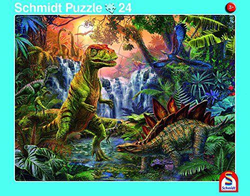 SCHMIDT 56786 - Rahmenpuzzle - Dinosaurier, 2er Set