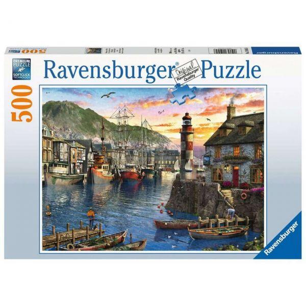RAVENSBURGER 15045 - Puzzle - Morgens am Hafen, 500 Teile