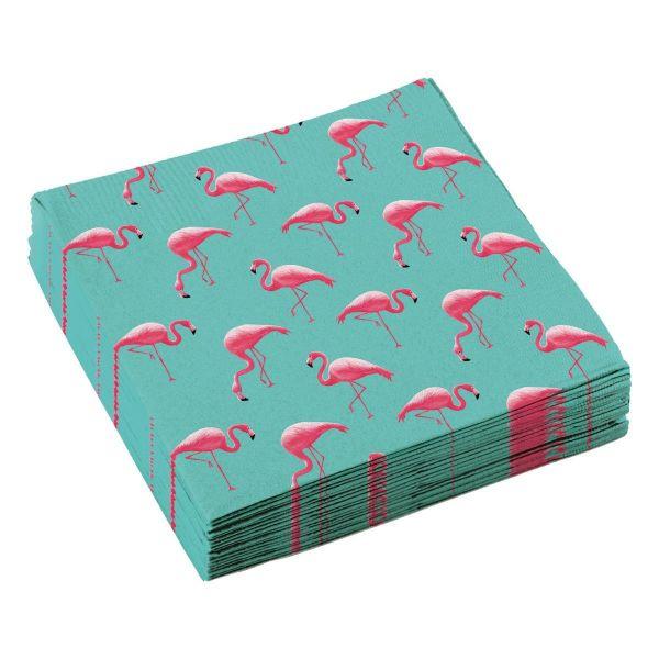 AMSCAN 828776 - Geburtstag & Party - Flamingo Paradise Servietten, 20 Stk.