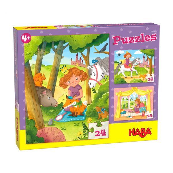 HABA 305916 - Puzzle - Prinzessin Valerie, 24 Teile
