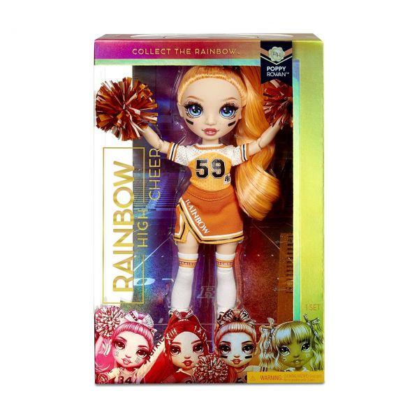 MGA 572046EUC - RAINBOW HIGH CHEER - Poppy Rowan, Cheerleader orange