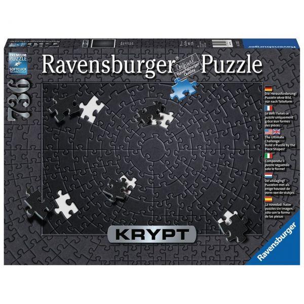 RAVENSBURGER 15260 - Puzzle - Krypt Black, 736 Teile