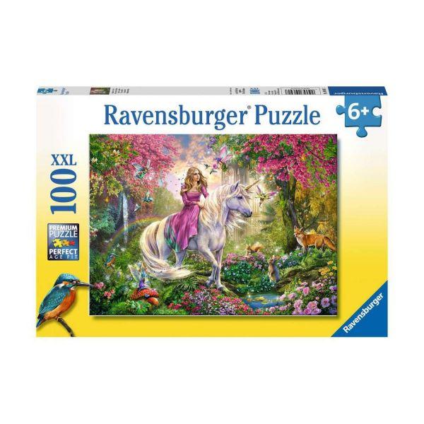 RAVENSBURGER 10641 - Puzzle - Magischer Ausritt von Einhorn und Prinzessin, 100 Teile XXL
