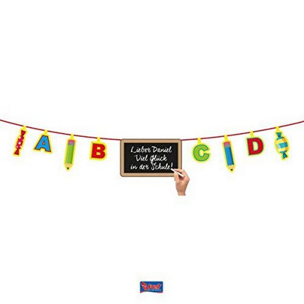 FOLAT 61344 - Geburtstag & Party - Tafel Banner Schulanfang, ca 4m