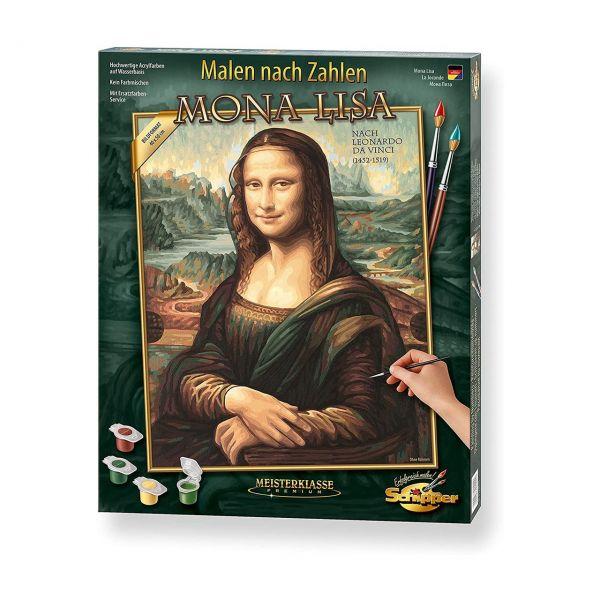 SCHIPPER 609130511 - Malen nach Zahlen - Mona Lisa, Bilder malen für Erwachsene