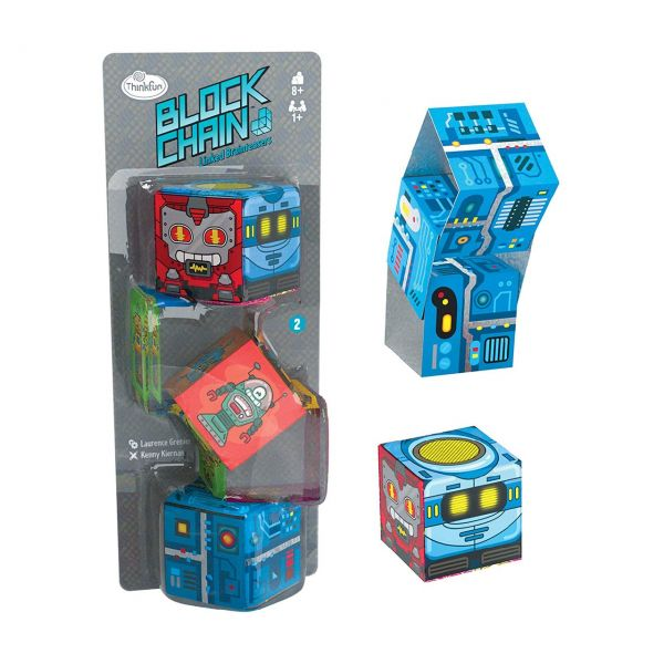 ThinkFun 76425 - Knobelspiel - Block Chain, Roboter