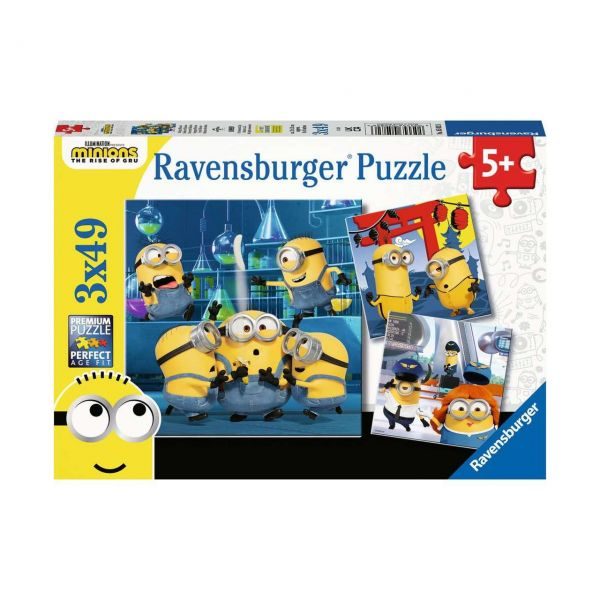 RAVENSBURGER 05082 - Puzzle - Witzige Minions, 3x49 Teile
