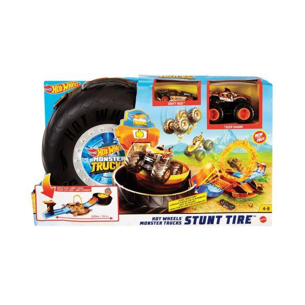 MATTEL GVK48 - Hot Wheels - Monster Trucks Stunt-Reifen Spielset