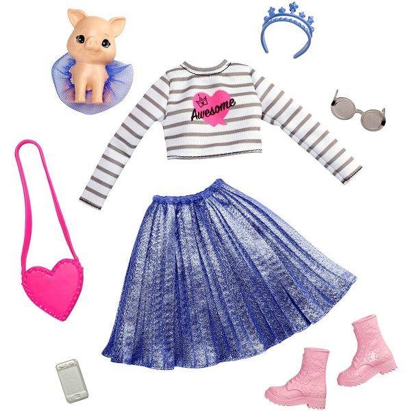 MATTEL GML64 - Barbie - Prinzessinnen Abenteuer Modeset Outfit und Schwein