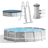 INTEX 26720GN - Pool - Prism Frame Premium Set, rund, 427x107cm