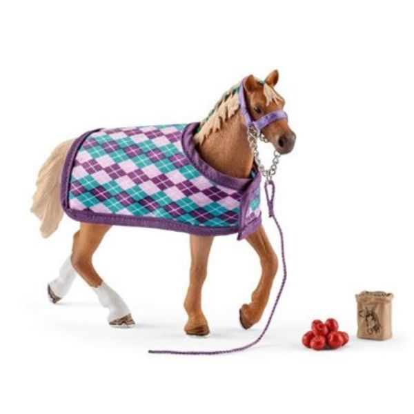 SCHLEICH 42360 - Horse Club - Englisches Vollblut mit Decke