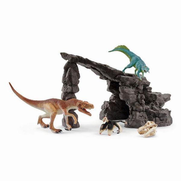 SCHLEICH 41461 - Dinosaurs - Dinoset mit Höhle