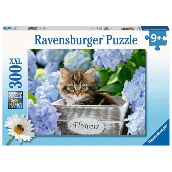 RAVENSBURGER 12894 - Puzzle - Kleine Katze, 300 Teile