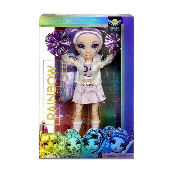 MGA 572084EUC - RAINBOW HIGH CHEER - Violet Willow, Cheerleader lila