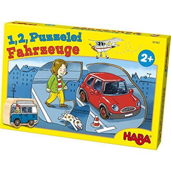 HABA 301667 - 1,2, Puzzelei - Fahrzeuge