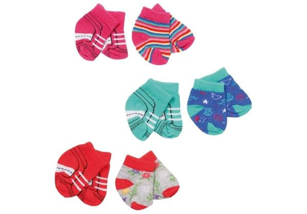 Zapf Creation 827017 - BABY born® Trend - Trend Socken, 2 Stk., 3-fach sort.