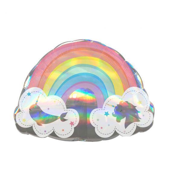 AMSCAN 3974801 - SuperShape - Holografischer magischer Regenbogen, 71x50cm